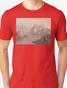Canyon Landscape With River Unisex T-Shirt