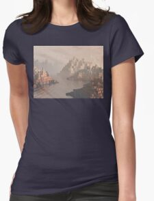 Canyon Landscape With River Womens Fitted T-Shirt
