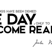 one day become realities - jules verne Sticker