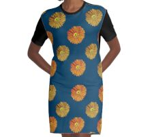 The Flower of Daisy 4 Graphic T-Shirt Dress