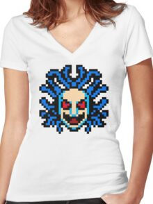 Castlevania Medusa Boss Women's Fitted V-Neck T-Shirt