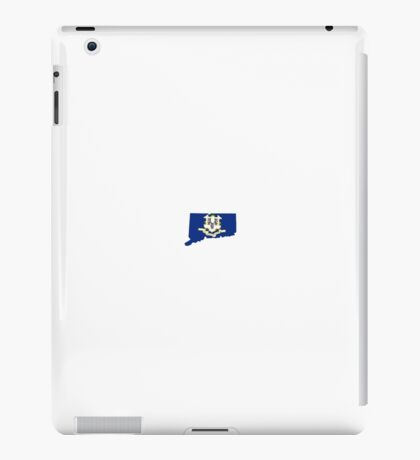 Connecticut (CT) State Flag Inside State, Small iPad Case/Skin