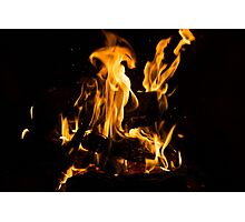 Hot Sparks - Comfort and Warmth by the Fireplace Photographic Print