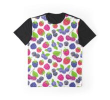 Assorted berries vector seamless pattern. Graphic T-Shirt