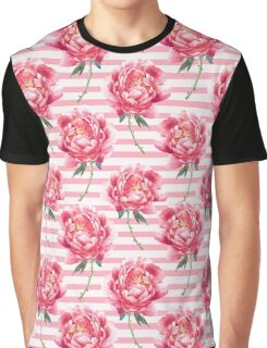Pattern of  watercolor peony Graphic T-Shirt