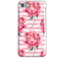 Pattern of  watercolor peony iPhone Case/Skin