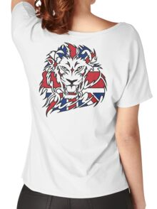 BRITISH, LION, Union Jack, Sport, Big Cat, Cat, Roar, Snarl, King of the Jungle Women's Relaxed Fit T-Shirt