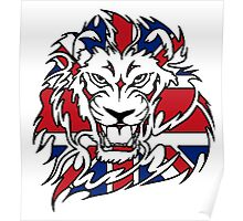 BRITISH, LION, Union Jack, Sport, Big Cat, Cat, Roar, Snarl, King of the Jungle Poster