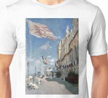Hotel des roches noires - Trouville - Claude Monet - 1870 Unisex T-Shirt