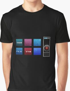 2001 A Space Odyssey HAL 9000 Graphic T-Shirt