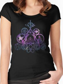 all your book fandoms v4 Women's Fitted Scoop T-Shirt