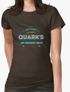 Retro DS9 Quarks Bar Vintage Style design Womens Fitted T-Shirt