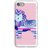 Pink, blue and purple lion iPhone Case/Skin