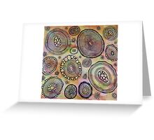 Under the microscope cells Greeting Card