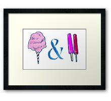 Ampersand Candyfloss&Pops Framed Print