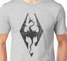 Skyrim inspired minimal print - dragon born, large Unisex T-Shirt