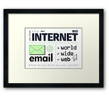 Where Do You Think You Are, Cyberspace? (Dark) Framed Print