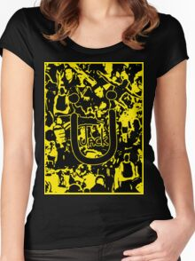 JACK Ü ARTWORK (YELLOW) Women's Fitted Scoop T-Shirt
