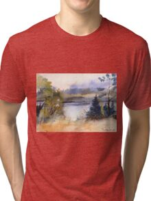 Evening at the forest Lake Tri-blend T-Shirt