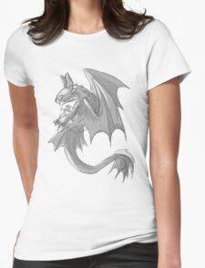 Sketchy Toothless Womens Fitted T-Shirt