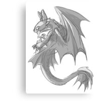 Sketchy Toothless Canvas Print