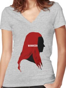 the100 Women's Fitted V-Neck T-Shirt