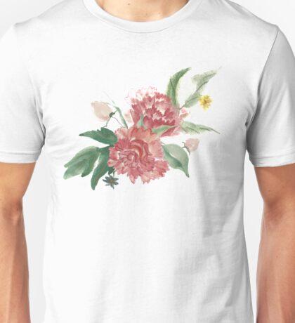 Coral watercolor bouquet Unisex T-Shirt
