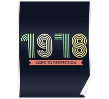 1978 aged to perfection Retro Style Poster