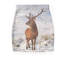 Deer Stag in the snow Mini Skirt