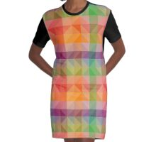 colorful texture Graphic T-Shirt Dress