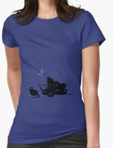 compys or tribble pile? Womens Fitted T-Shirt