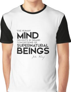the human mind delights in grand conceptions - jules verne Graphic T-Shirt
