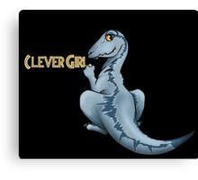 Clever Girl Jurassic park Veloceraptor Canvas Print