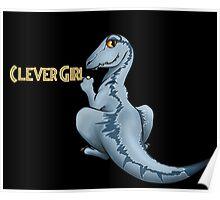 Clever Girl Jurassic park Veloceraptor Poster