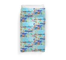 the ships watercolour Duvet Cover
