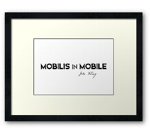 mobilis in mobile - jules verne Framed Print