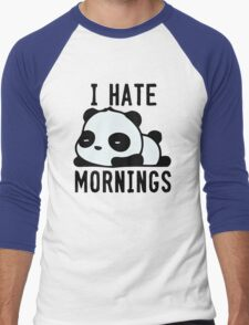 Panda Hate Morning Men's Baseball ¾ T-Shirt