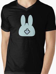 Talk To The Butt Cool Funny Bunny Cartoon  Mens V-Neck T-Shirt
