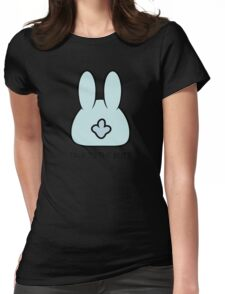 Talk To The Butt Cool Funny Bunny Cartoon  Womens Fitted T-Shirt