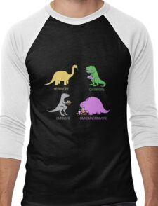 Funny Dinosaurs Men's Baseball ¾ T-Shirt