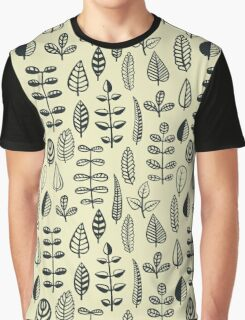 Doodle Leaves Graphic T-Shirt