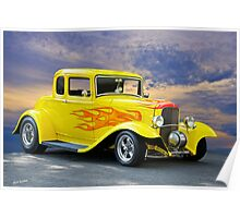 1932 Ford Five-Window Coupe Poster