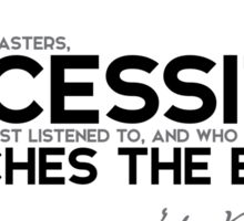 necessity is the one most listened to - jules verne Sticker