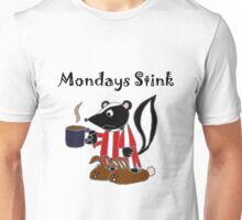 Funny Skunk Hates Mondays Cartoon Unisex T-Shirt