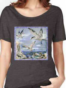 Seagulls on a Windy Day Women's Relaxed Fit T-Shirt