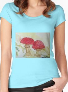 Fly Agaric Women's Fitted Scoop T-Shirt