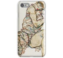 Egon Schiele - Seated Woman With Her Left Hand In Her Hair 1914 iPhone Case/Skin