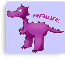 Purple T-Rex Canvas Print