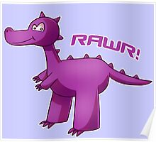 Purple T-Rex Poster