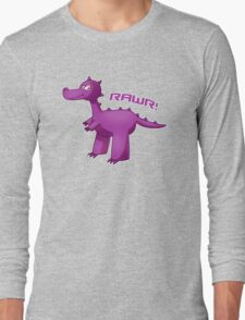 Purple T-Rex Long Sleeve T-Shirt